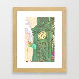 The Flag and The Clock Framed Art Print