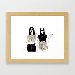 Girl Girls Framed Art Print
