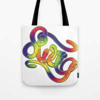 swag Tote Bags featuring Swag by Haze Design