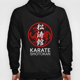 Shotokan Karate Symbol and Kanji white text Hoody