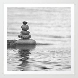 Seaside Harmony Zen Pebble Art Print