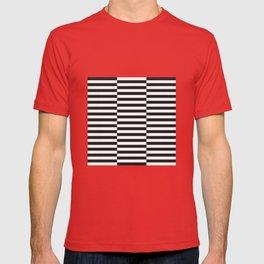IKEA STOCKHOLM Rug Pattern - black stripe black T-shirt