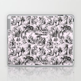 Alice in Wonderland | Toile de Jouy | Black and Pink Laptop & iPad Skin