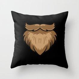 beard full beard Schnautzer facial hair hair Throw Pillow