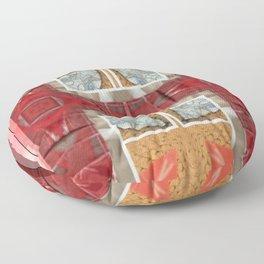 Partial Windows & Brick Tiles (Abstract / Tiles) Floor Pillow