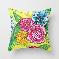 pretty little flowers Throw Pillow