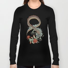 Botanical Flower Dragon 8 Long Sleeve T-shirt