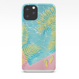Tropical pool chill iPhone Case