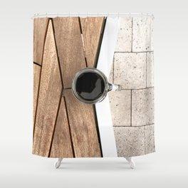 Artistic Cold Brew Shot 2 // Wood Steel & Stone Caffeine Coffee Shop Barista Wall Hanging Photograph Shower Curtain