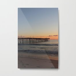 Virginia Beach Pier Sunrise Metal Print