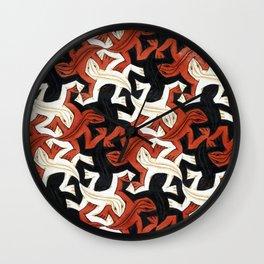 Escher lizard Wall Clock
