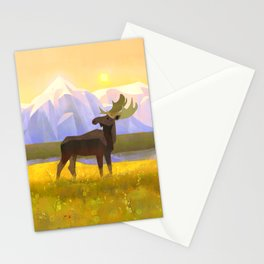Moose Mountain Morning Stationery Cards