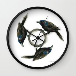 TriGrackle Wall Clock