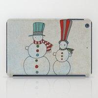 calendar iPad Cases featuring Snowmen by Päivi Hintsanen