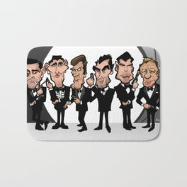Faces of Bond Bath Mat