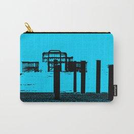 West Pier Mono Blue Carry-All Pouch