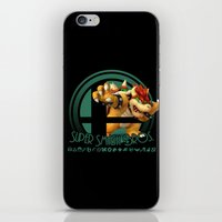 super smash bros iPhone & iPod Skins featuring Bowser - Super Smash Bros. by Donkey Inferno