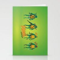 ninja turtles Stationery Cards featuring Ninja Turtles - Pixel Nostalgia by Boo! Studio