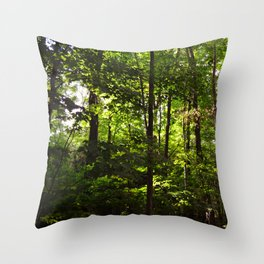 Forest // Silent In The Trees  Throw Pillow