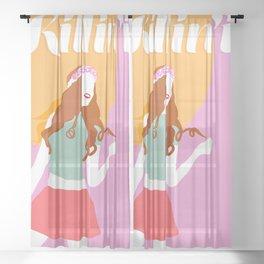 Good Vibes Killing it Girl Sheer Curtain