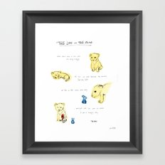 the lion  and the mouse. Framed Art Print
