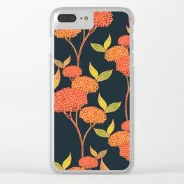 Orange autumn berries. Clear iPhone Case
