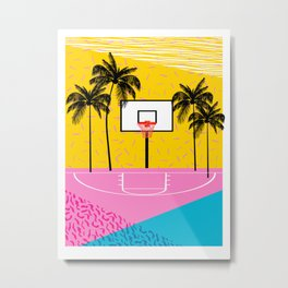 Dope - memphis retro vibes basketball sports athlete 80s throwback vintage style 1980's Metal Print