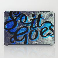 vonnegut iPad Cases featuring So It Goes by Kelly Irene