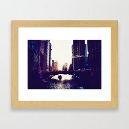River front, Chicago, United States Framed Art Print
