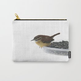 On the Edge: Carolina Wren Carry-All Pouch