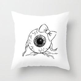 Eyeball Lady Throw Pillow
