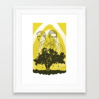 true detective Framed Art Prints featuring True Detective by Gavin Guidry