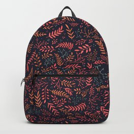 Midnight Meadow Botanical Pattern Backpack
