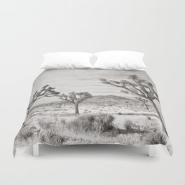 Joshua Tree Grey By CREYES Duvet Cover