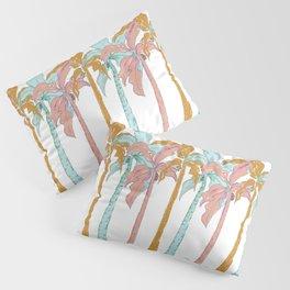 Pastel Palm Trees Pillow Sham
