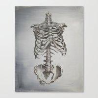 skeleton Canvas Prints featuring Skeleton by Trisha Thompson Adams