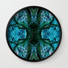 Cobalt Limbs Wall Clock