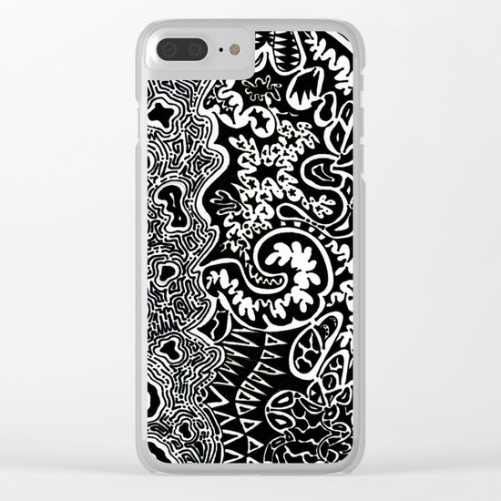 Dependent Existence / The Sun and The Moon Clear iPhone Case