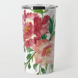 Watercolor of Flower Bouquet Travel Mug