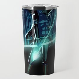 Luc Ready for Battle (Black/Dark Background) Travel Mug