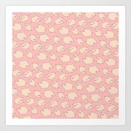 small pigs (pink) Art Print