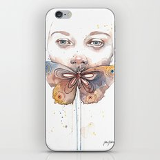 Butterfly, watercolor iPhone & iPod Skin