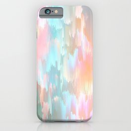 Candy Rainbow Glitch Fall #abstractart iPhone Case