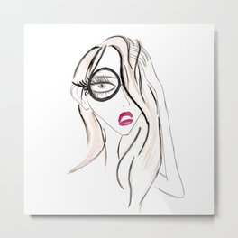 Lady Boss Metal Print