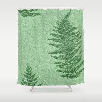 fern Shower Curtains featuring Fern by Mr and Mrs Quirynen