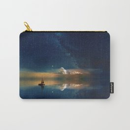 Sailboat in Space (Color) Carry-All Pouch