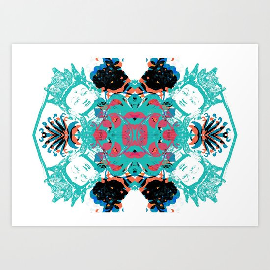 Kaleidoscope God Art Print