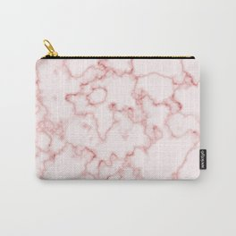 Marble Texture Pattern Red 042 Carry-All Pouch
