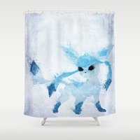 ice Shower Curtains featuring Ice by Melissa Smith