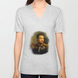 Robert Downey Jr. - replaceface Unisex V-Neck